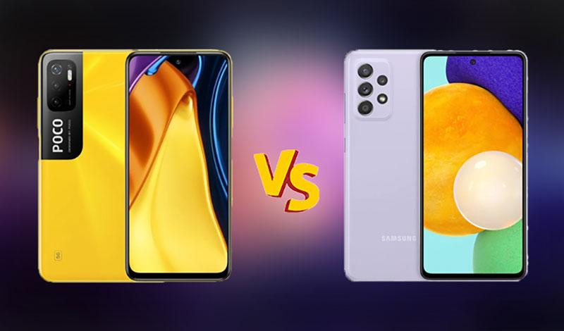 مقایسه بین گوشی پوکو ام 3 پرو 5G با گوشی گلکسی ای 52
